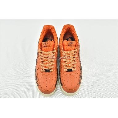 Nike Air Force 1 Low Orange Skeleton CU8067-800 Starfish/White/Black Sneakers