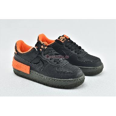 Nike Wmns Air Force 1 Shadow Hyper Crimson CQ3317-001 Black/Orange Sneakers