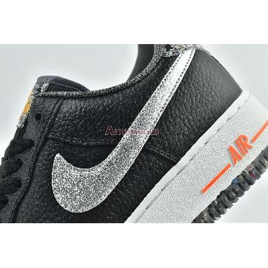 Nike Air Force 1 07 LV8 Regrind DA4676-001 Black/Total Orange/Laser Orange/Metallic Silver Sneakers