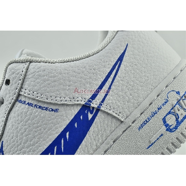 Nike Air Force 1 Low Sketch CW7581-100 White/Royal Blue Sneakers