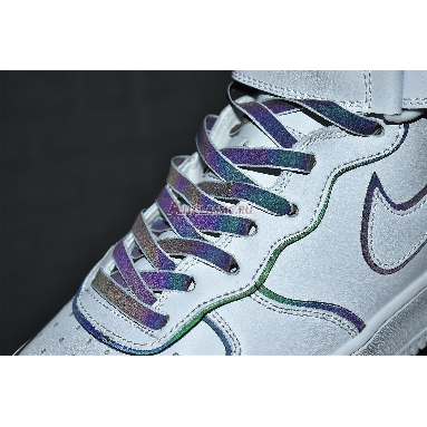 Nike Air Force 1 High Iridescent Trim 388732-810 White/White/Black Sneakers