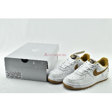 Nike Air Force 1 Low With Dual Heel Swooshes DH2947-100 White/Yellow/Black Sneakers