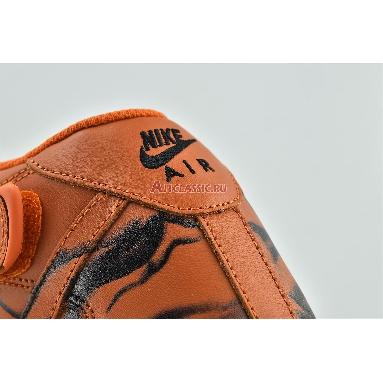 Nike Air Force 1 High Orange Skeleton CU8067-801 Brilliant Orange/Black-Brilliant Orange Sneakers