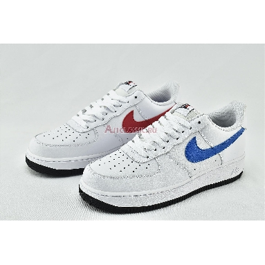 Nike Air Force 1 07 Low Mismatched Swooshes - White CT2816-100 White/University Red-Photo Blue-Black Sneakers