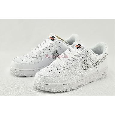 Nike Air Force 1 07 LV8 Just Do It BQ5361-100 White/White-Black-Total Orange Sneakers