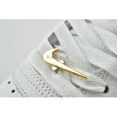 Nike Air Force 1 07 LV8 Gold Foil Swoosh DC2181-100 White/Metallic Gold/White Sneakers