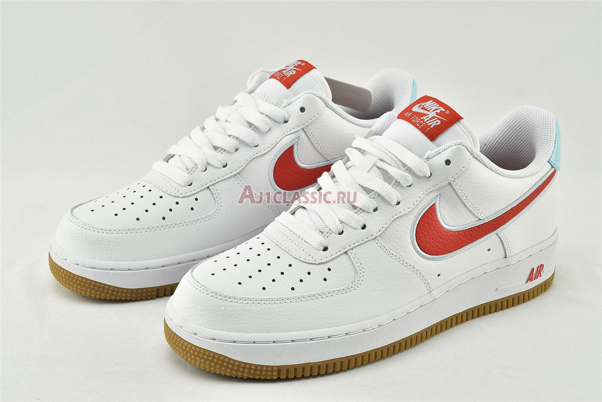 """Nike Air Force 1 Low """"White Chile Red"""" DA4660-101"""