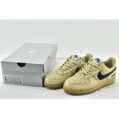 Nike Air Force 1 Low LV8 Gore-Tex BG Gold CQ4215-700 Team Gold/White/Black/Gum Med Brown Sneakers