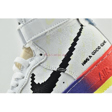 Nike Air Force 1 High 07 Vintage Have A Good Game DC2112-192 White/White-Bright Crimson-Black Sneakers