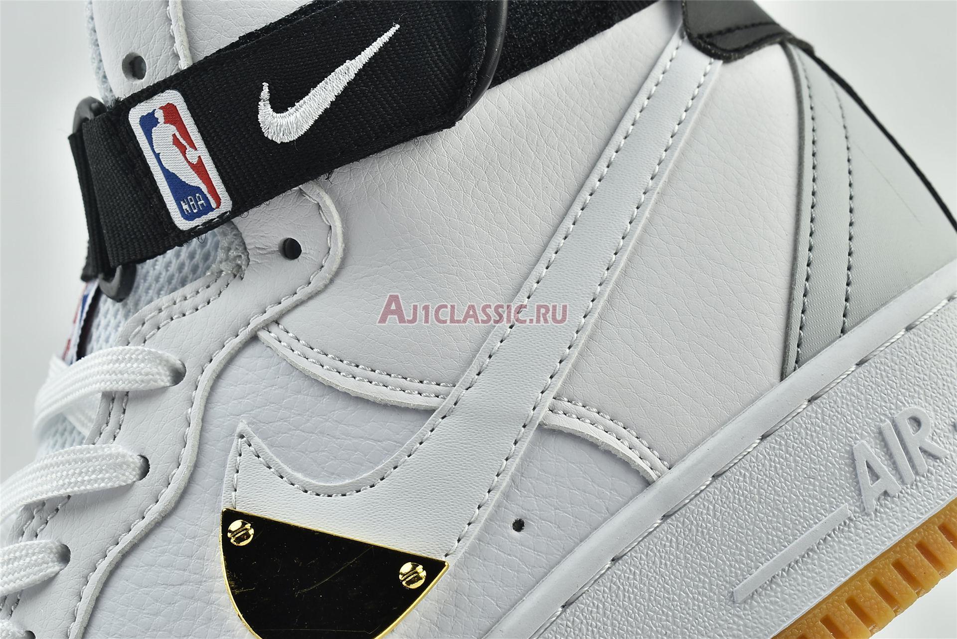 """NBA x Air Force 1 High 07 LV8 """"White"""" CT2306-100"""