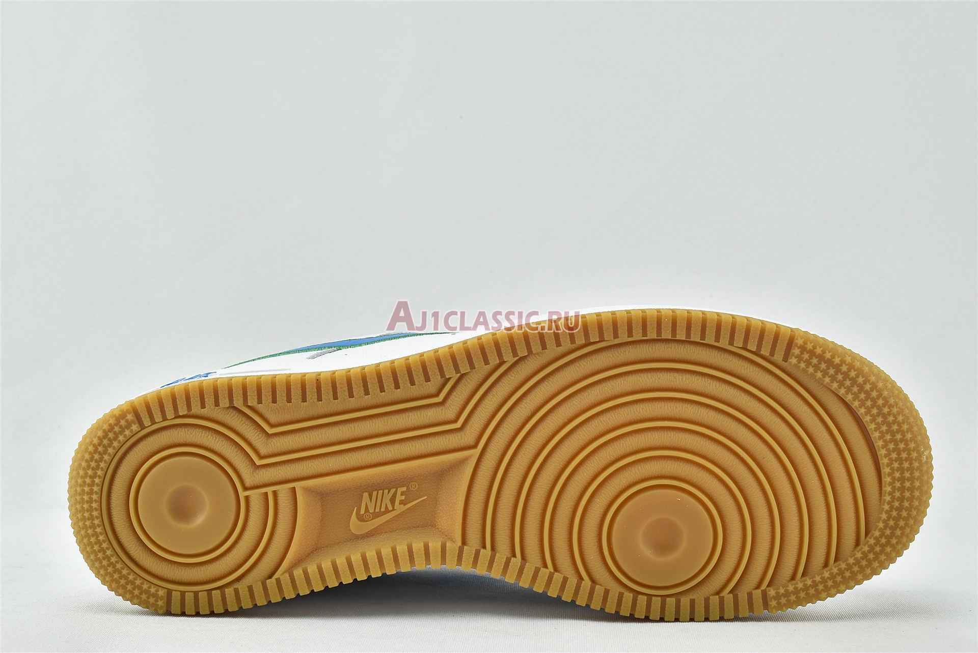 """Nike Air Force 1 Low """"White Bright Blue Green"""" DA4660-100"""