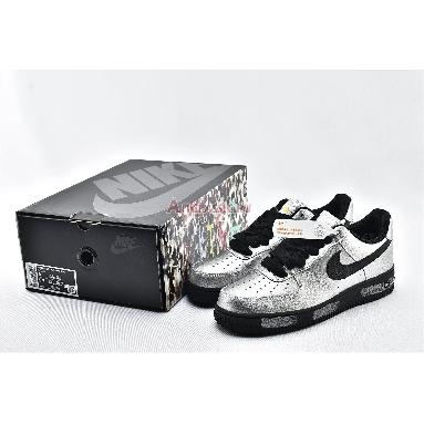 PEACEMINUSONE x Nike Air Force 1 Low Para-noise AQ3692-100 Black/Silver Sneakers