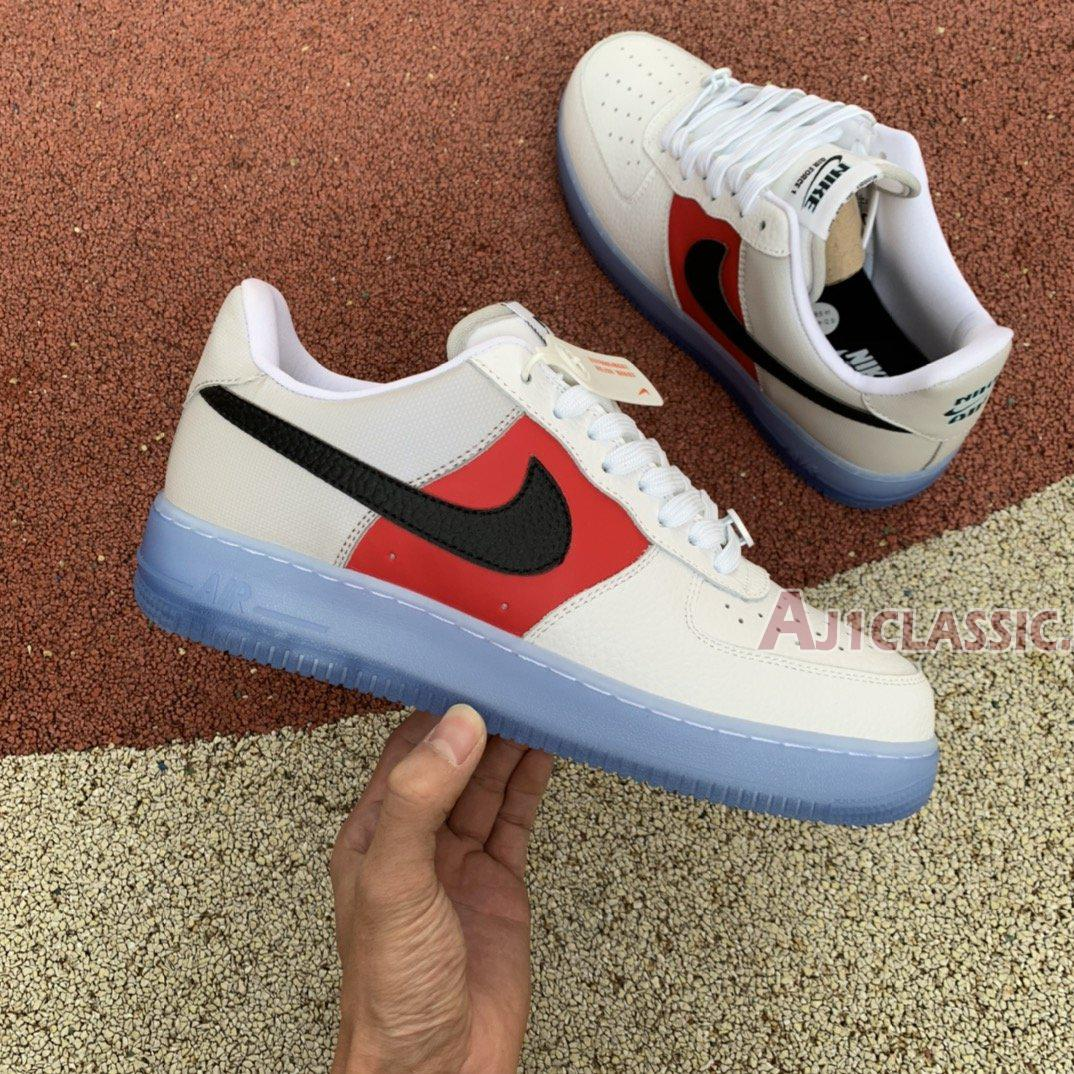 """Nike Air Force 1 07 LV8 EMB """"Icy Soles - University Red"""" CT2295-110"""