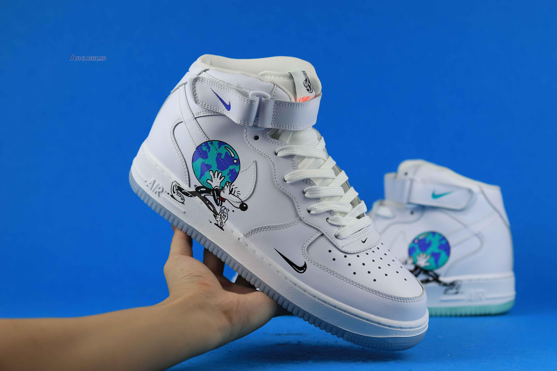 "Steven Harrington x Nike Air Force 1 High Flyleather ""Earth Day"" CI5545-100"