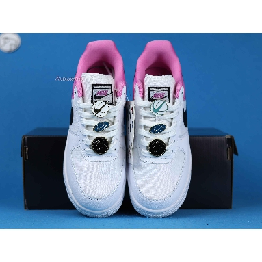 Nike Wmns Air Force 1 Low SE Basketball Pins AA0287-107 White/Black-China Rose Sneakers