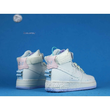 Nike Air Force 1 High Utility Force is Female CQ4810-111 White/Pink/Purple/Green/Sail Sneakers