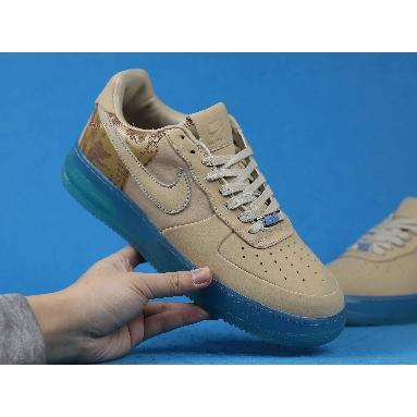 Nike Air Force 1 Supreme 07 Kobe 315095-221 Linen/Linen-University Blue Sneakers