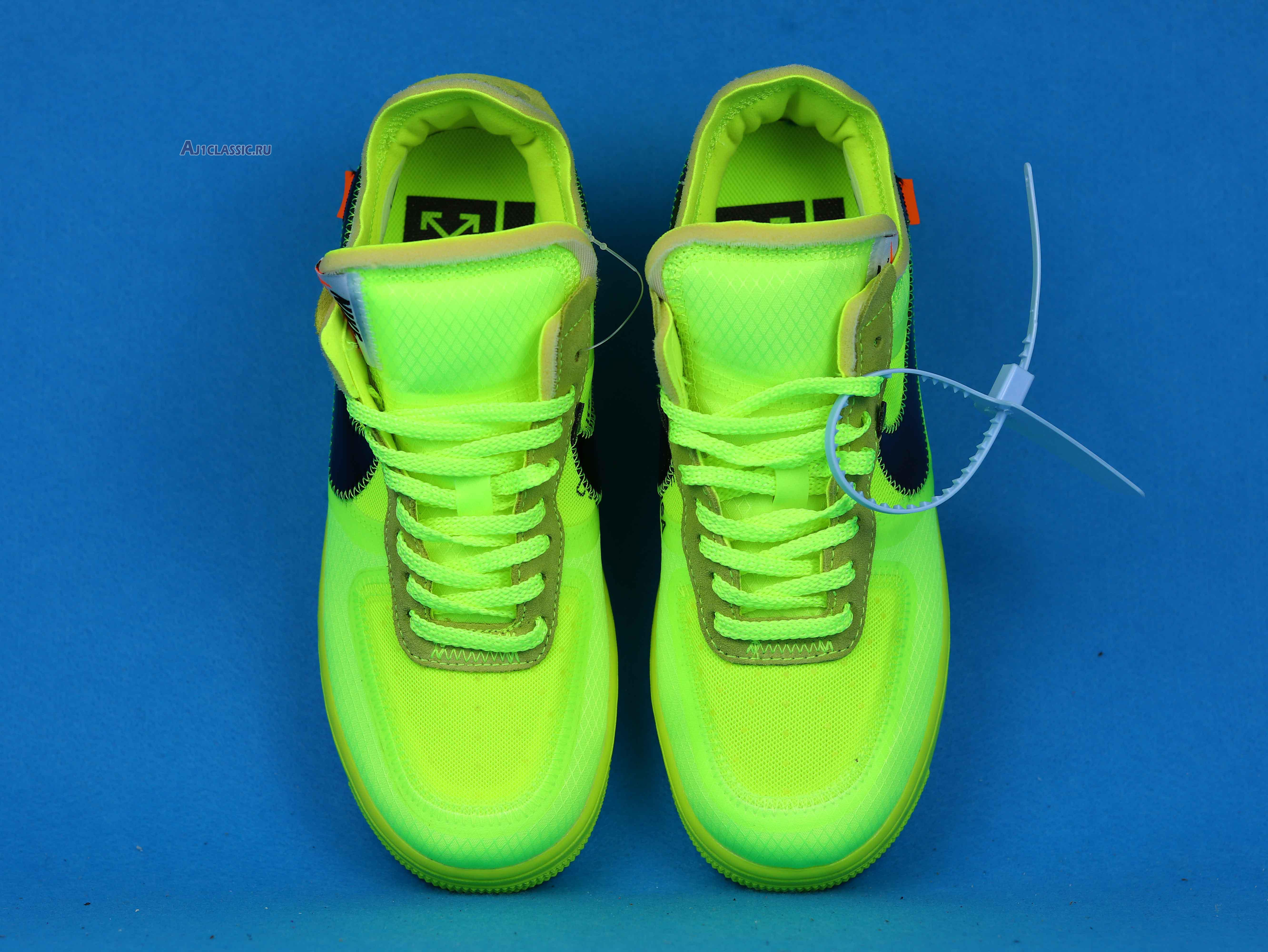"""Off-White x Nike Air Force 1 Low """"Volt"""" AO4606-700"""