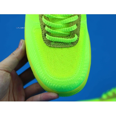 Off-White x Nike Air Force 1 Low Volt AO4606-700 Volt/Cone-Black-Hyper Jade Sneakers