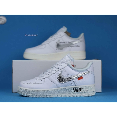 Off-White x Nike Air Force 1 Low ComplexCon Exclusive AO4297-100 White/Metallic Silver-Sail Sneakers
