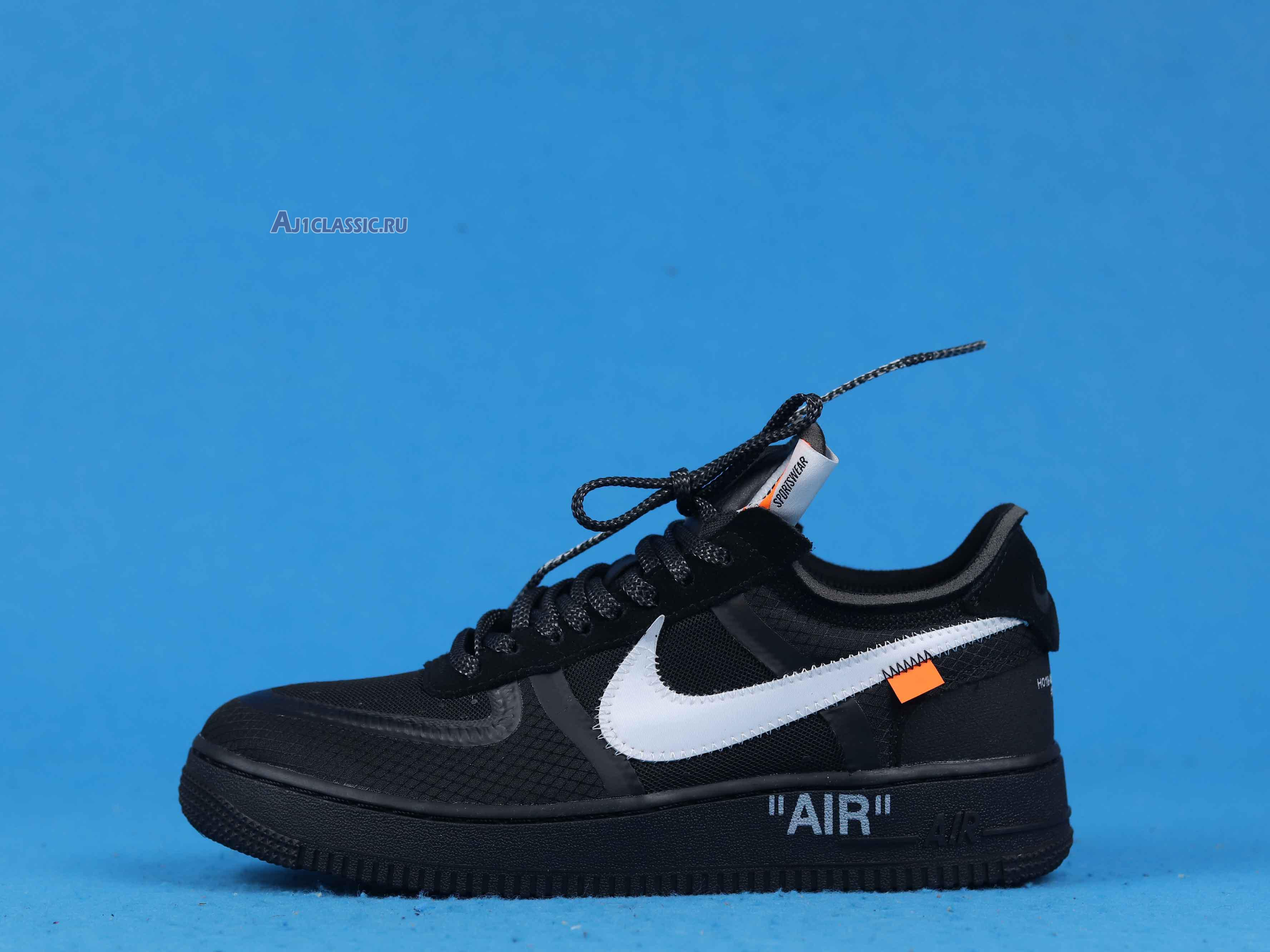 """Off-White x Nike Air Force 1 Low """"Black"""" AO4606-001"""
