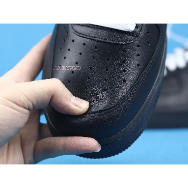 Off-White x Nike Air Force 1 Low 07 MoMA AV5210-001 Black/Metallic Silver-Black Sneakers