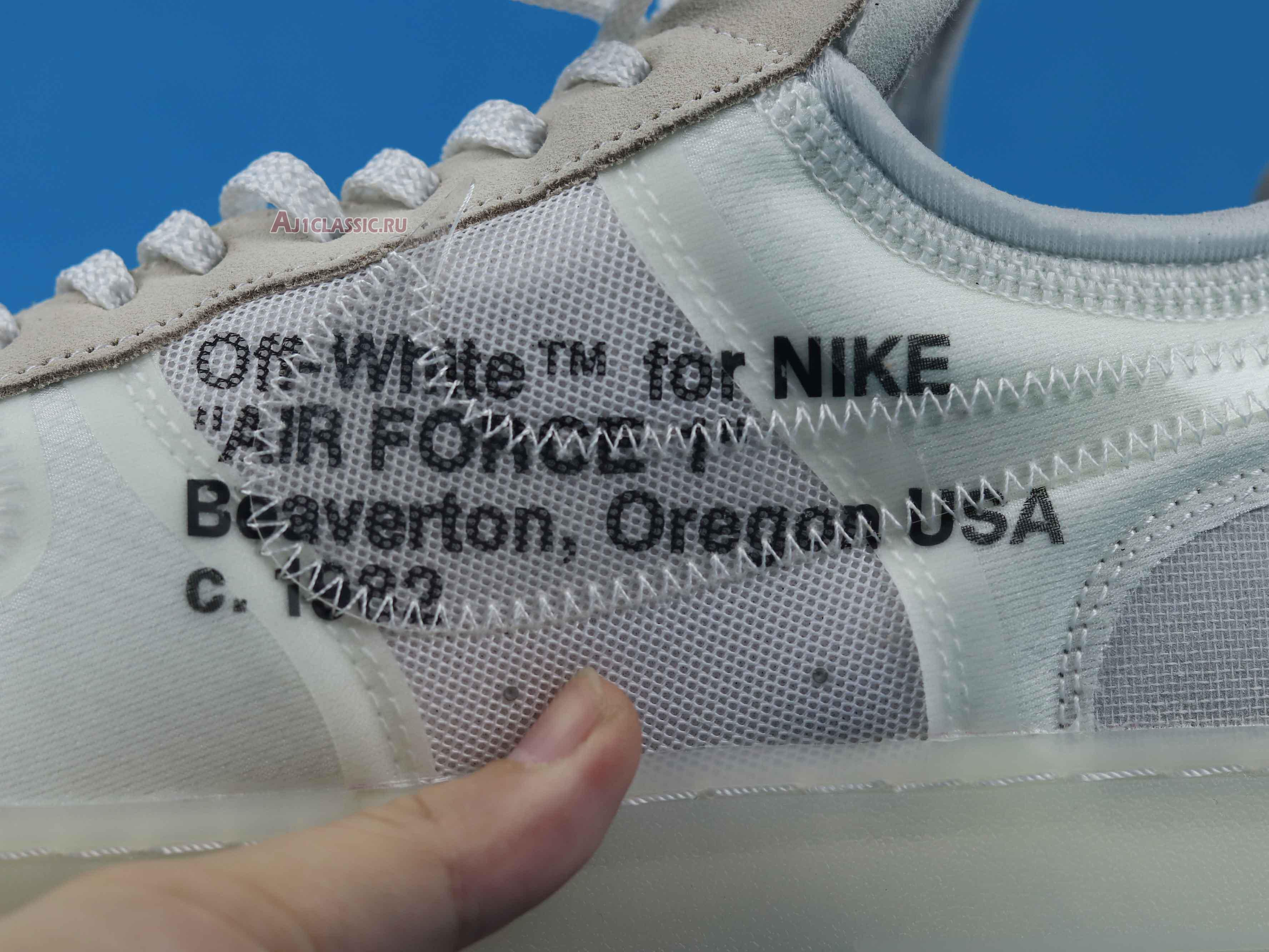 """Off-White x Nike Air Force 1 Low """"The Ten"""" AO4606-100"""