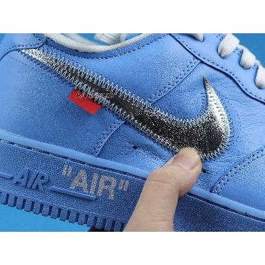 Off-White x Nike Air Force 1 Low 07 MCA CI1173-400 University Blue/White-University Red-Metallic Silver Sneakers