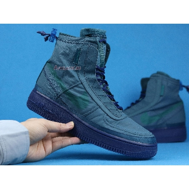 Nike Air Force 1 High Wmns Shell Turqouise BQ6096-300 Midnight Turquoise/Green Sneakers