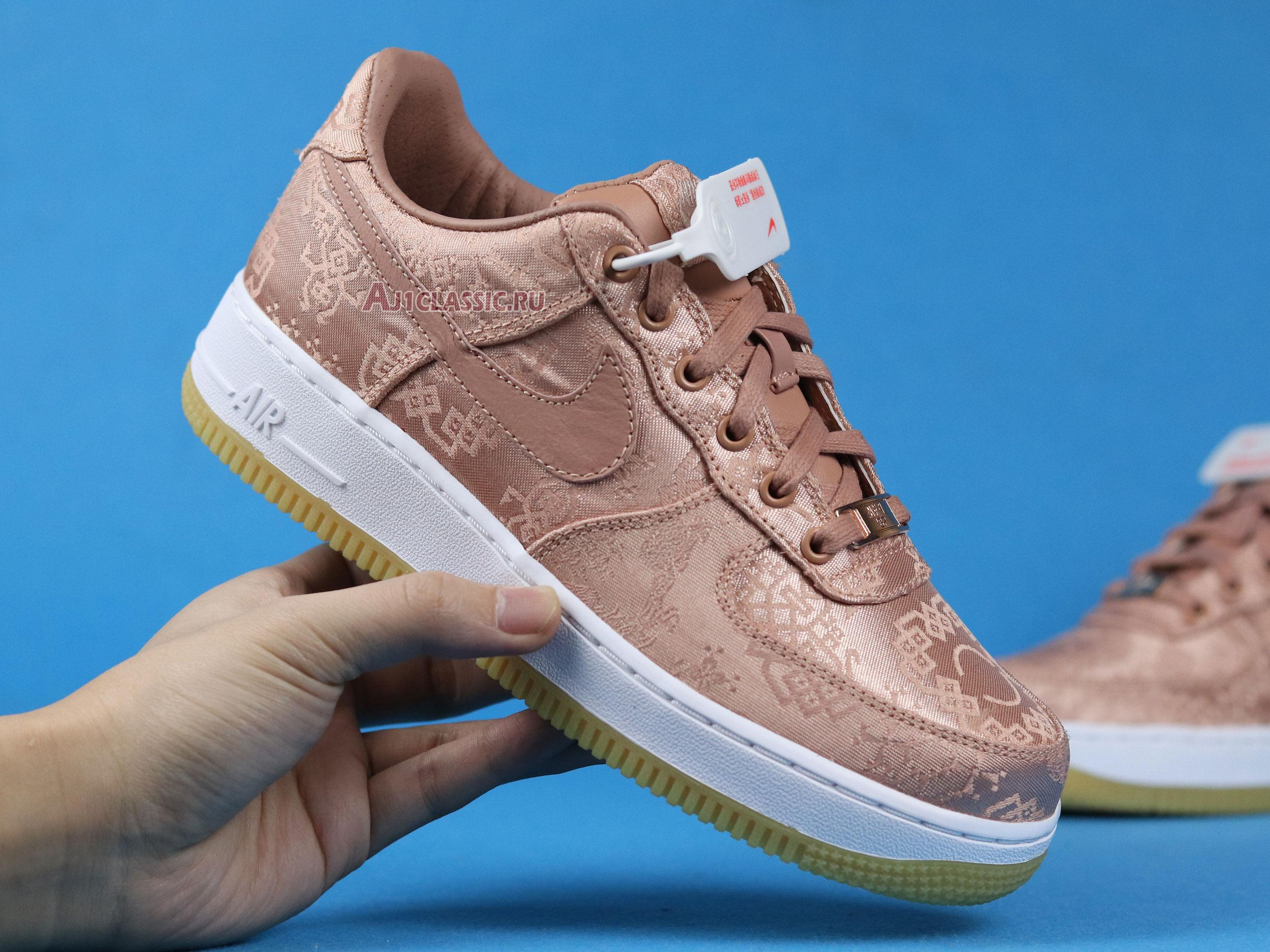 "CLOT x Nike Air Force 1 Low Premium ""Rose Gold Silk"" CJ5290-600-02"