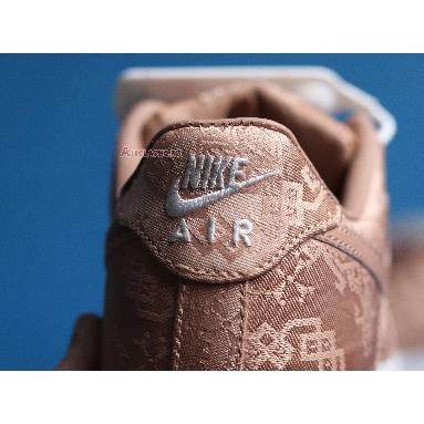 CLOT x Nike Air Force 1 Low Premium Rose Gold Silk CJ5290-600-02 Rose Gold/White/Gum Light Brown Sneakers