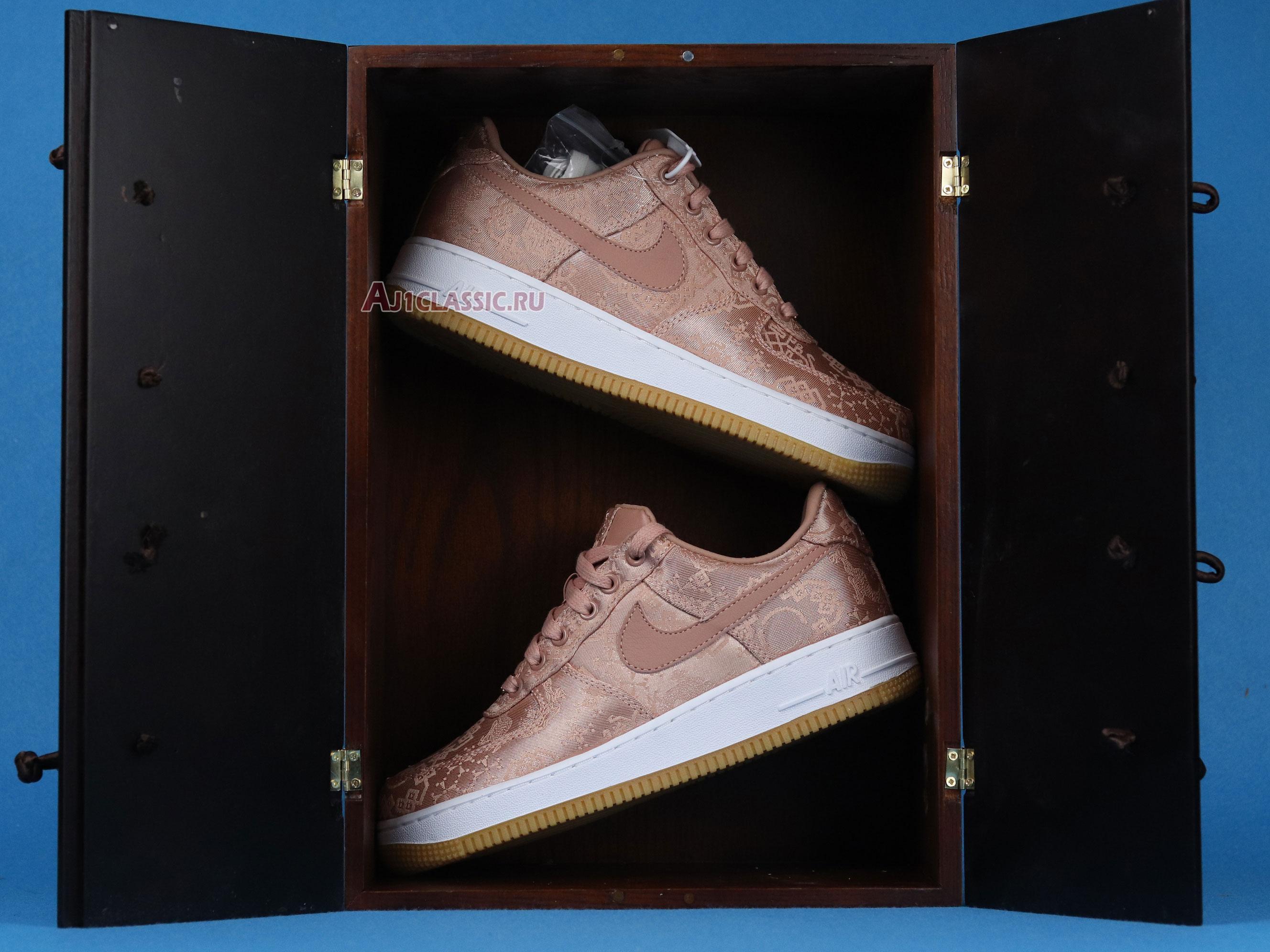 "CLOT x Air Force 1 Low Premium ""Rose Gold Silk"" Special Box CJ5290-600"