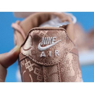 CLOT x Air Force 1 Low Premium Rose Gold Silk Special Box CJ5290-600 Rose Gold/White/Gum Light Brown Sneakers