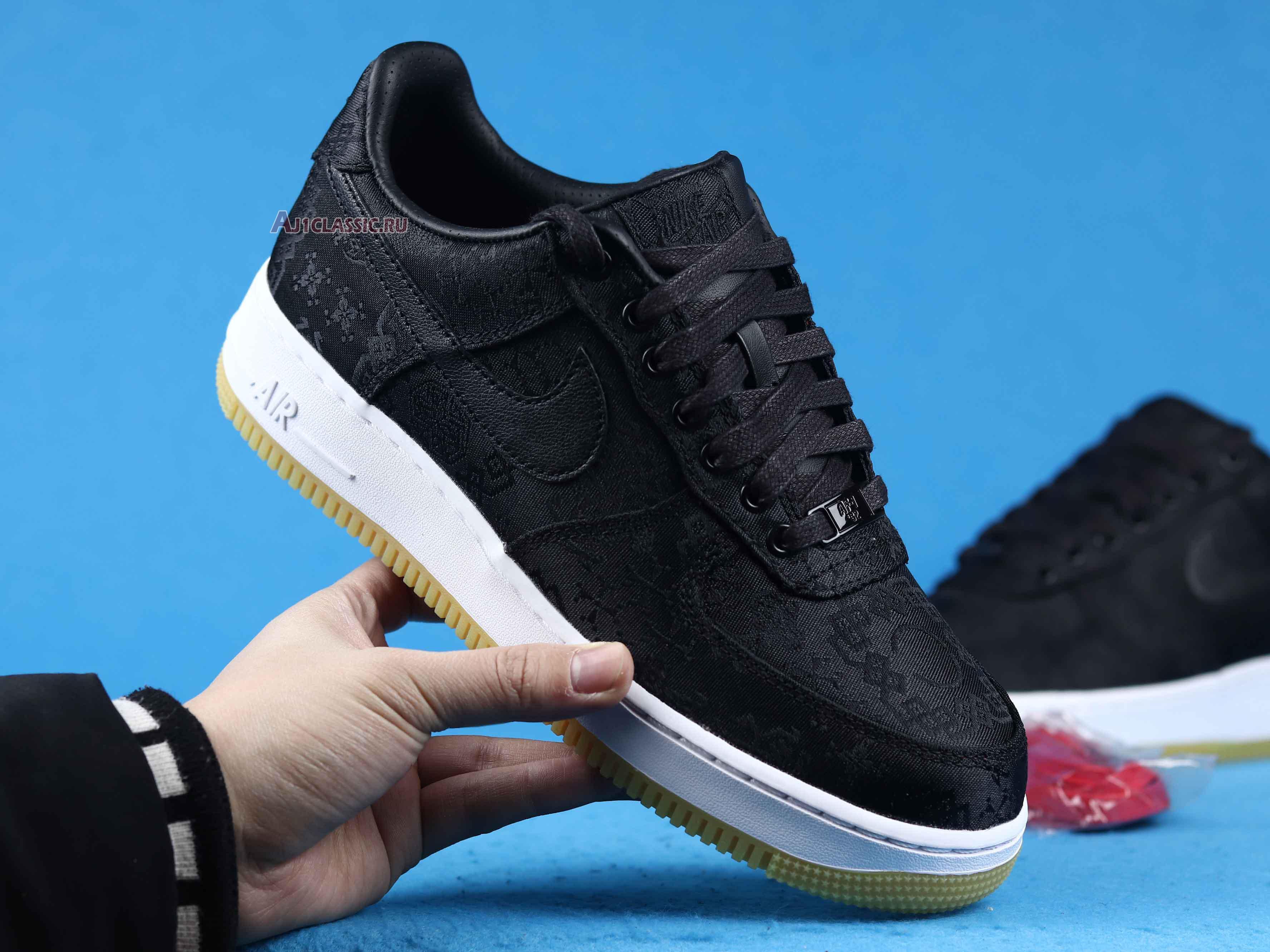 "Fragment Design x CLOT x Nike Air Force 1 Low ""Black Silk"" CZ3986-001"