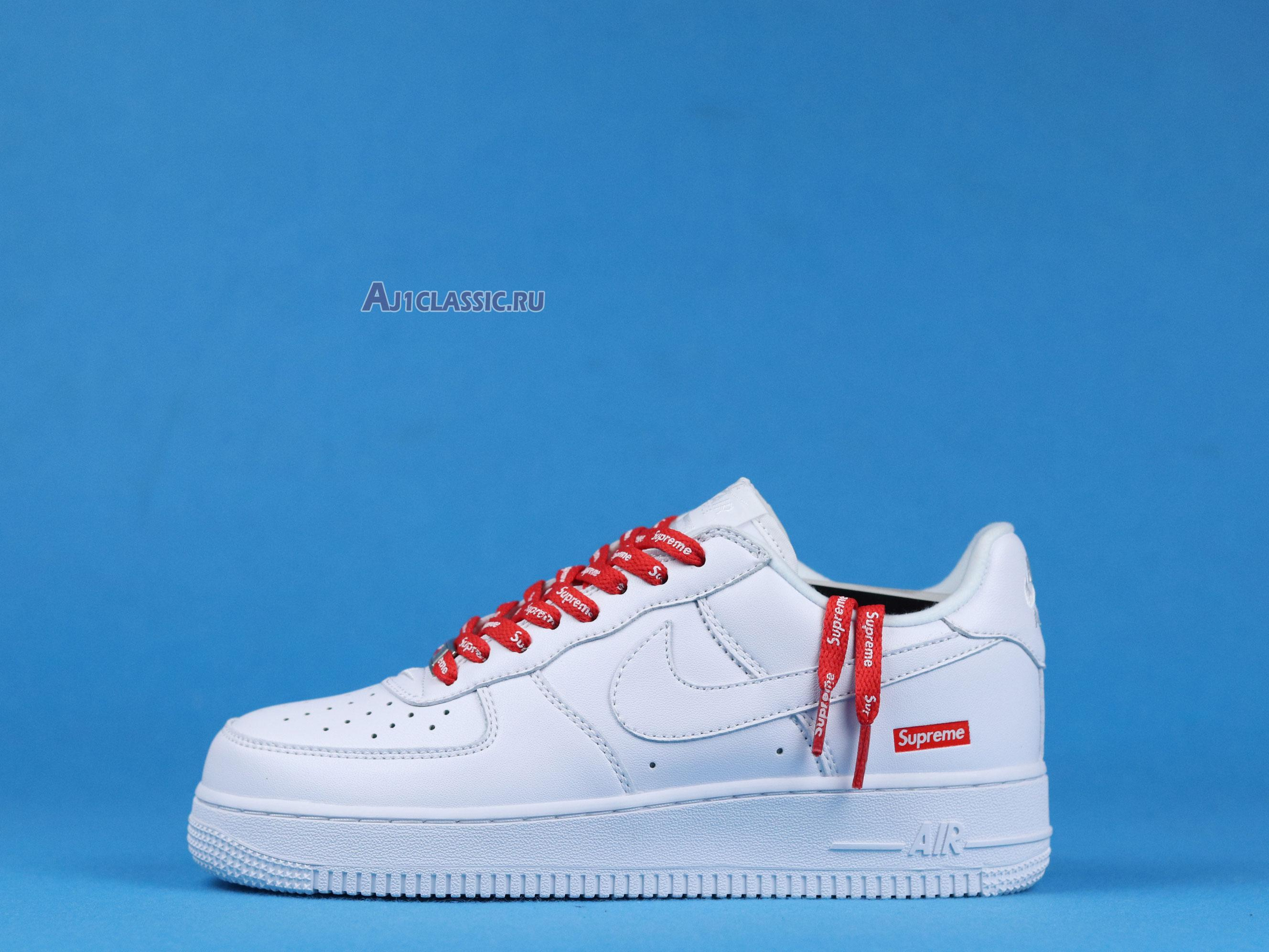"Supreme x Nike Air Force 1 Low ""Box Logo - White"" CU9225-100"