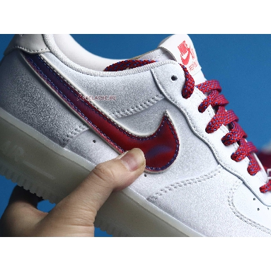 Nike Air Force 1 De Lo Mio BQ8448-100 White/University Red-Sport Blue Sneakers
