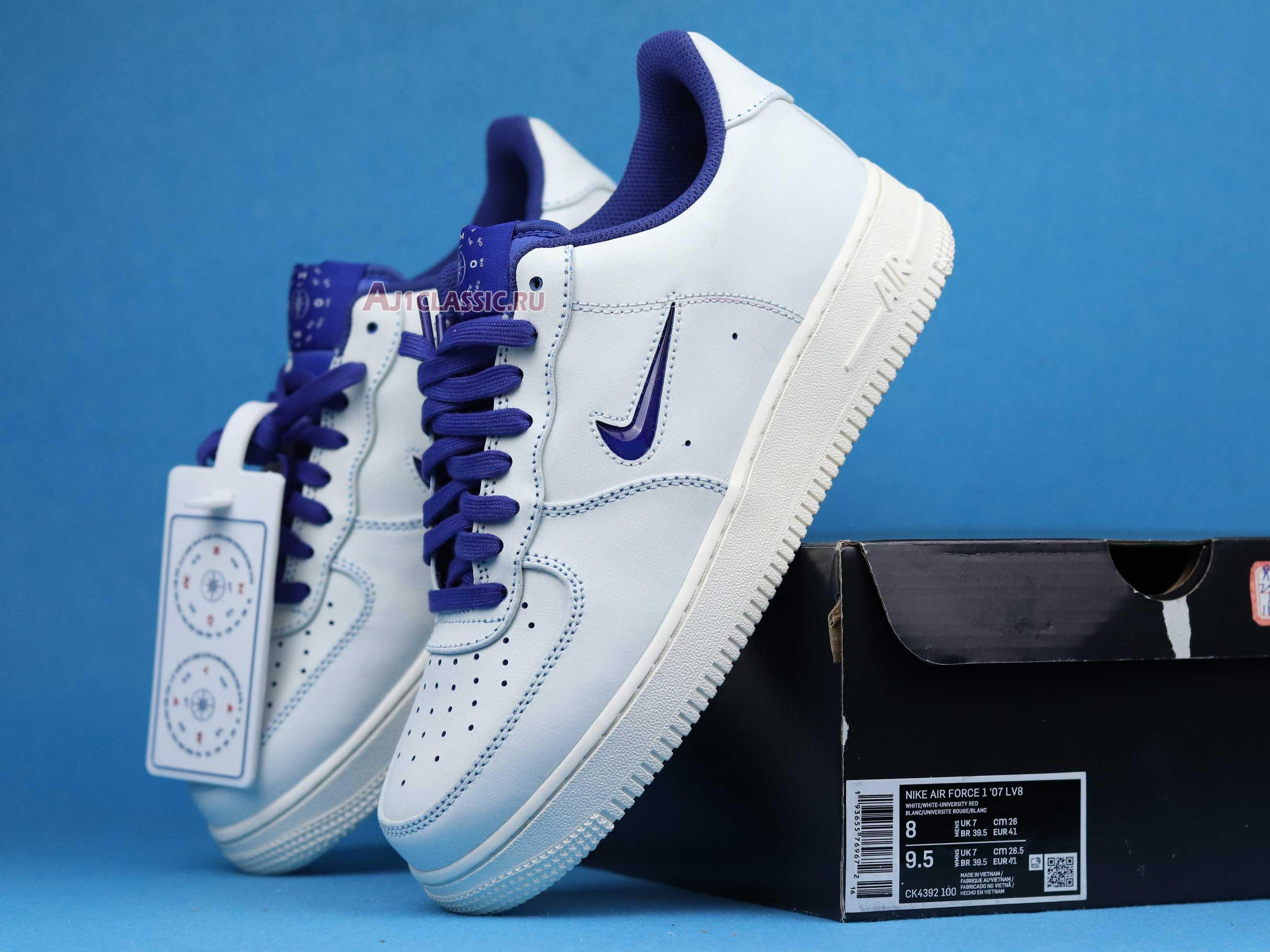 "Nike Air Force 1 Jewel ""Home & Away - Concord"" CK4392-100"