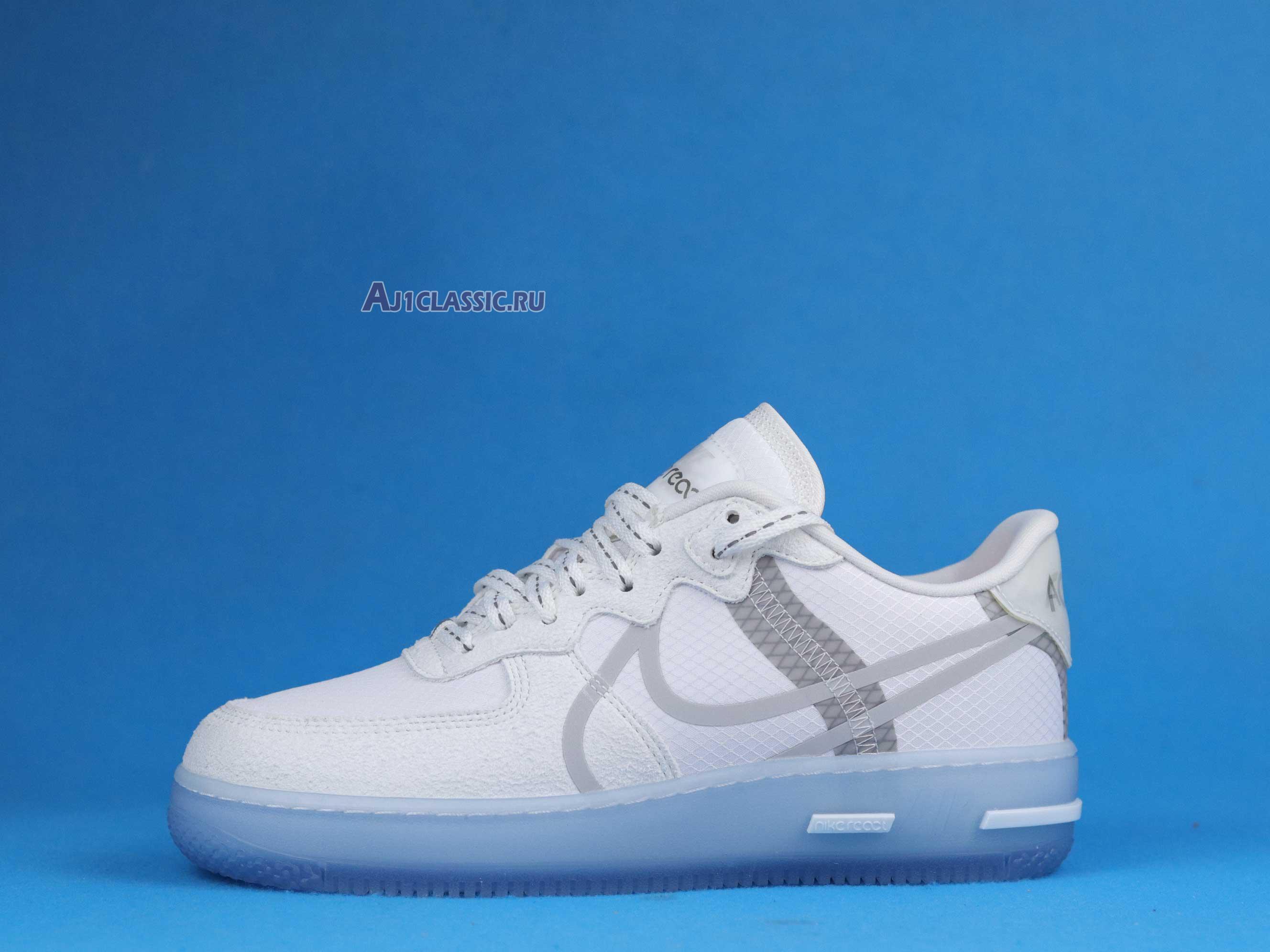 Nike Air Force 1 React QS White Ice CQ8879-100 White/Light Bone ...