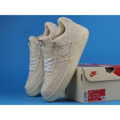 Stussy x Nike Air Force 1 Low Fossil CZ9084-200 Fossil Stone/Sail/Off White Sneakers