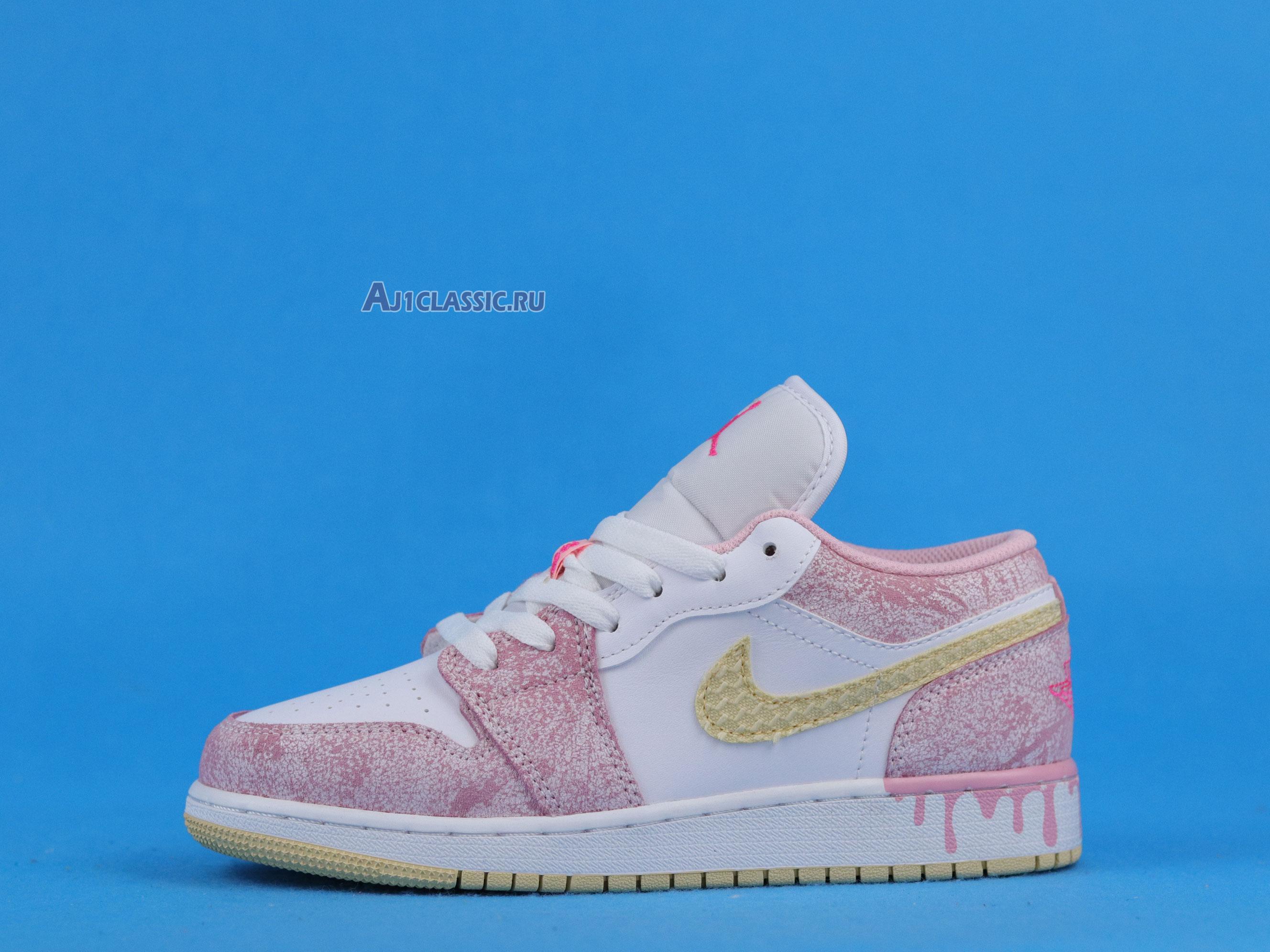 "Air Jordan 1 Low GS ""Strawberry Ice Cream"" CW7104-601"