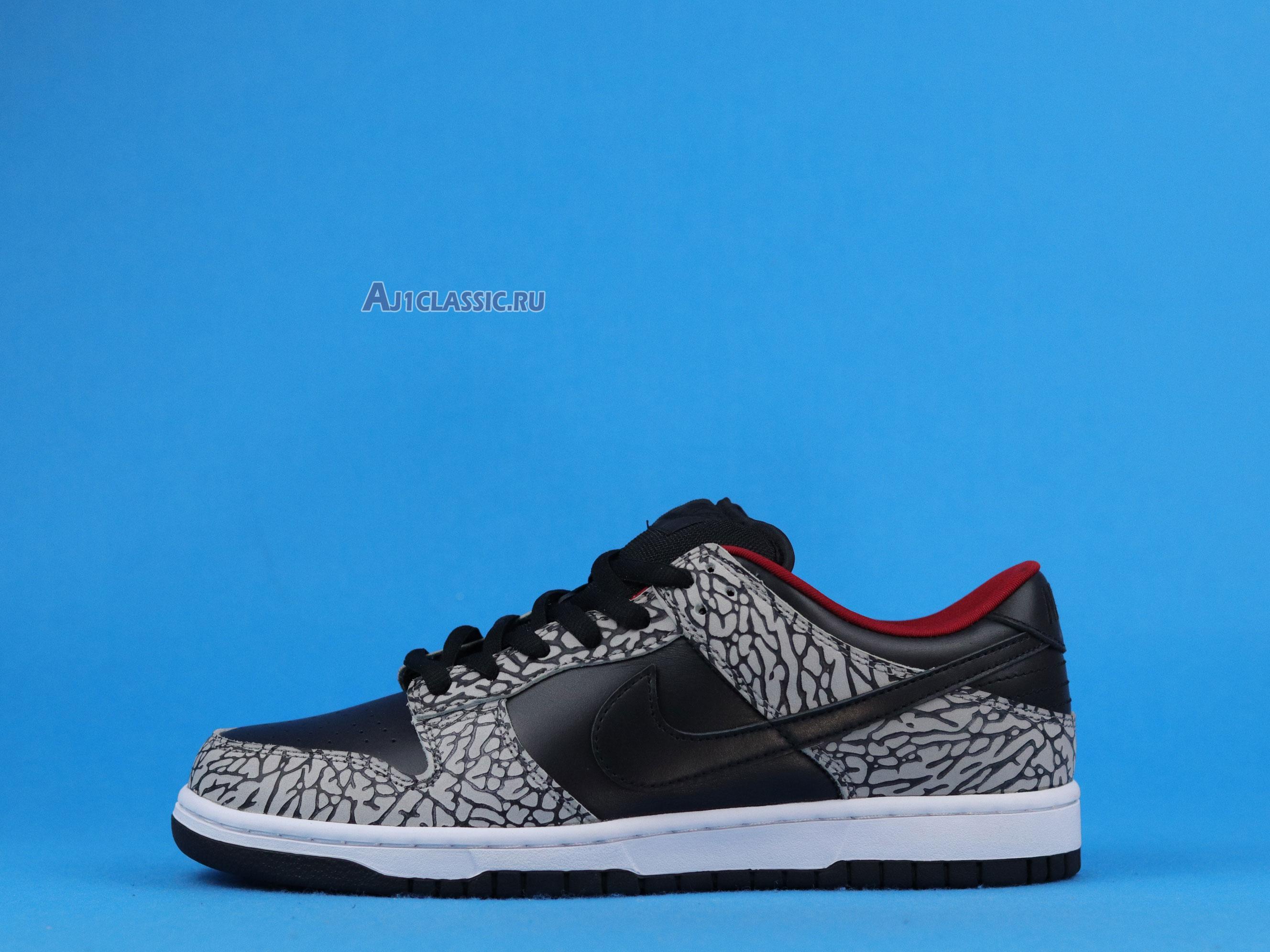 """Supreme x Nike Dunk Low Pro SB """"Black Cement"""" 304292-131"""