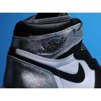 Air Jordan 1 Retro High OG Silver Toe CD0461-001 Black/Metallic Silver/White/Black Sneakers
