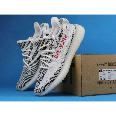 Adidas Yeezy Boost 350 V2 Zebra CP9654 White/Core Black/Red Sneakers