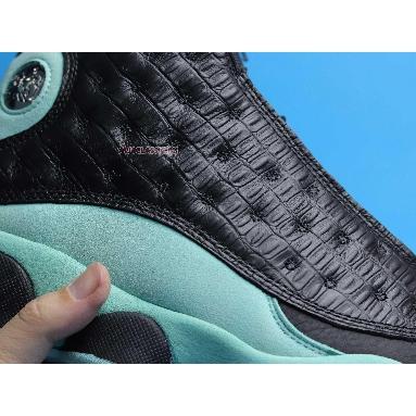 Air Jordan 13 Retro Island Green 414571-030 Black/Island Green/Metallic Silver Sneakers