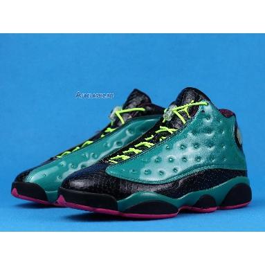 Air Jordan 13 Retro Doernbecher 836405-305 Emerald Green/Volt Ice/Black/Dynamic Pink Sneakers