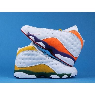 Air Jordan 13 Retro GS Playground CV0785-158 White/Black/Court Purple/Total Orange Sneakers