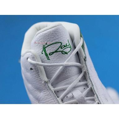 Air Jordan 13 Retro Ray Allen PE 414571-125 White/Clover/Green Sneakers