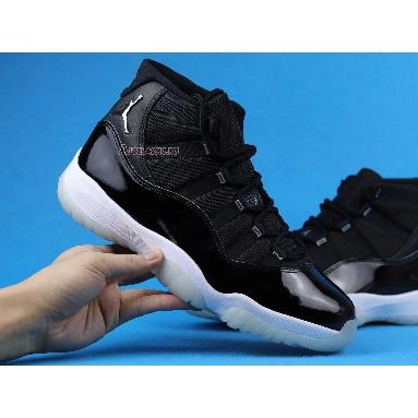 Air Jordan 11 Retro 25th Anniversary CT8012-011-2 Black/Clear-White-Metallic Silver Sneakers