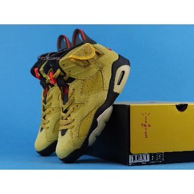 Travis Scott x Air Jordan 6 Yellow CN1084-300 Mustard Yellow/University Red/Black Sneakers