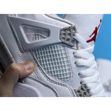 Air Jordan 4 Retro White Oreo CT8527-100 White/Tech Grey/Black/Fire Red Sneakers